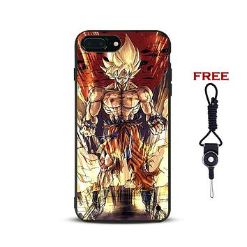 Dragon Ball z DBZ Super Goku Phone Case For Apple iPhone X 8Plus 8 7Plus 7 6sPlus 6s 6Plus 6 5 5S SE