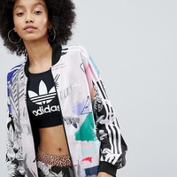 adidas Originals X Farm Multi Print Bomber Jacket at asos.com
