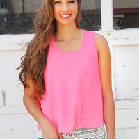Tulip Orchid Tank {Hot Pink}