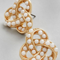 ModCloth Luxe Knot to be Forgotten Earrings