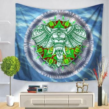 Customized Indian Mandala Elephant Tapestry Polyester Wall Hanging Home Office Yoga Mandala Tapestry 2017