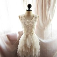 Nutcracker Queen Romantic Nude French Cream Pale Spring Angel Ballerina Dream Whimsical Tulle Dreamy Lace Sexy Party Dress