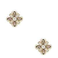 Kate Spade Cocktails & Conversation Studs Cream Multi ONE