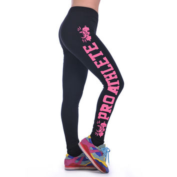 New Summer-Autumn Printed Leggings For Womens Fashion Workout  Women Sport Leggings Fitness Gym Stretch Leggings 6 Colors