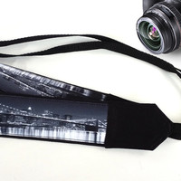 Photographer Gift. Brooklyn Bridge Camera Strap. White And Black. Accessories. City Camera Strap.