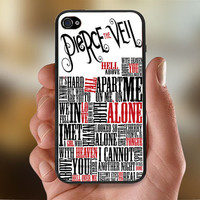 Pierce The Veil Song Lyric  - Photo Print for iPhone 4/4s Case or iPhone 5 Case - Black or White