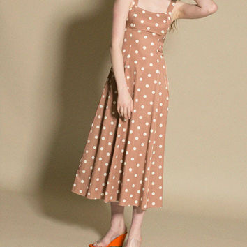 Maryam Nassir Zadeh - Brown Polka La Mola Dress | BONA DRAG