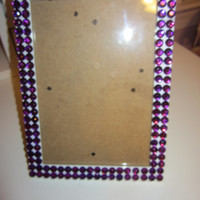 Picture Frame with Rhinestones