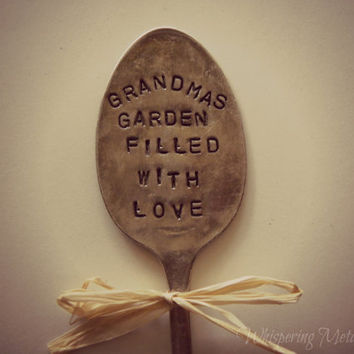Garden pick silver plated spoon Grandmas Garden Filled With Love