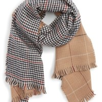 BP. Reversible Houndstooth & Grid Scarf | Nordstrom