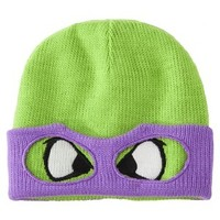 Men's Teenage Mutant Ninja Turtle Knit Cap with Mask - Donatello Purple
