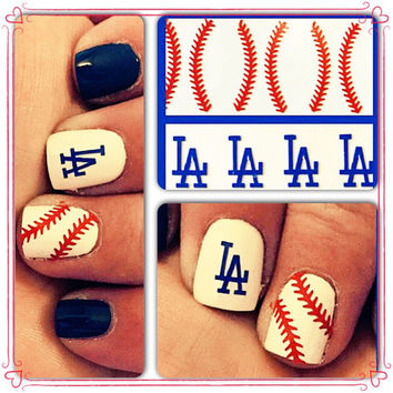 LA Dodgers nail decals