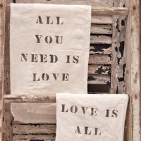 All You Need Is Love Flour Sack Towel Set by VintageJunkyStyle