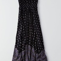 AEO Women's Cutout Back Maxi Dress (Black)