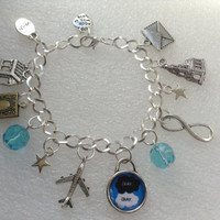TFIOS Themed, Quote, OKAY, Silver Plated Charm Bracelet