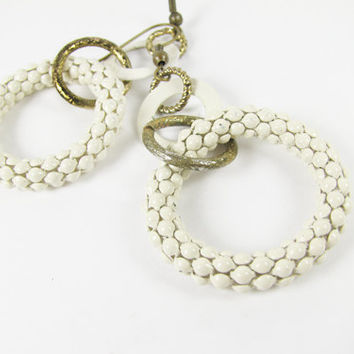 Vintage Mod Earrings Twiggy Style / Mod Vintage Wedding - Boucles d'Oreilles.