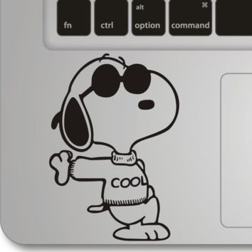 Snoopy- Apple Macbook Front Decal Sticker Humor Handmade Partial Art Skin Protector
