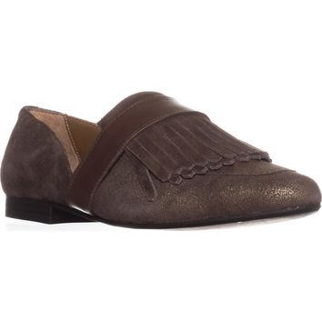 G.H. Bass & Co. Harlow Pointed Toe Loafers, Mocha, 6.5 US / 37.5 EU