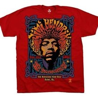 "New! Jimi Hendrix ""5th Dimension"" Liquid Blue Licensed Adult T-Shirt Concert Tee"