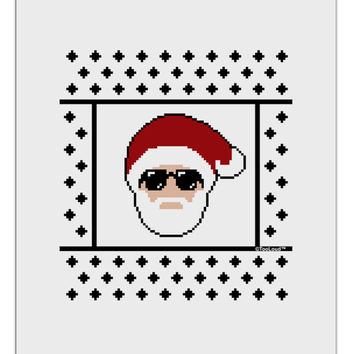 Cool Santa Christmas Sweater Aluminum Dry Erase Board