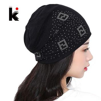 PEAPUNT 2016 Beanie Hats For Women Beanies Autumn And Winter Brand Knitted Hat Turban Diamond Skullies Hip-hop Caps Stocking Ladies Lnit
