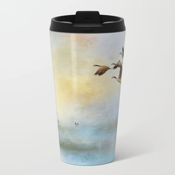 Lighthouse Bay II Metal Travel Mug by Theresa Campbell D'August Art