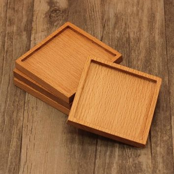 Wooden Heat Insulation Place Mat Coasters