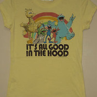 Sesame Street Yellow ( It's all good in the Hood ) T-shirt