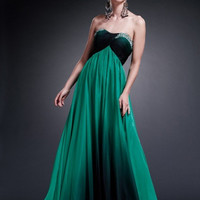 AB5214 Ombre Chiffon Empire Waist Prom Dress Evening Gown