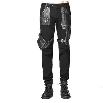 Rocker Biker Bullet Patchwork Pants