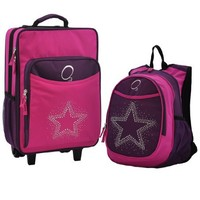 Obersee Kids Luggage and Backpack with Integrated Cooler, Rhinestone Star