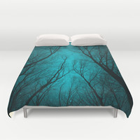 Endure the Darkness (Night Trees Silhouette 2) Duvet Cover by soaring anchor designs ⚓   Society6