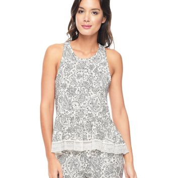 Angel Doodle Paisley Sleep Essentials Tank by Juicy Couture,