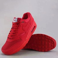 Trendsetter Nike Air Max 1 Premium  Fashion Casual Sneakers Sport Shoes