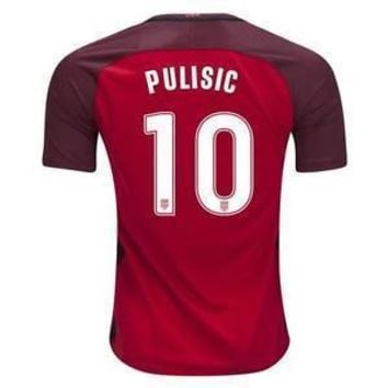 17-18 Pulisic #10 National Team Red Soccer Jersey,2018 World Cup Jersey,Customized Soc