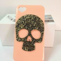 iPhone skull case iPhone 4/4s heart case iphone 5 cases iphone back cover accessory hard case iphone bling cover case handmade