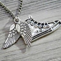Percy Jackson & the Olympians: winged flying shoes pendant necklace