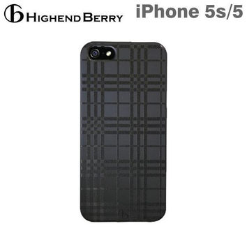 Highend Berry Black Rubber Tartan Case for iPhone 5/5s