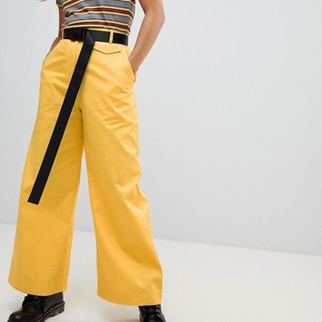 The Ragged Priest Wide Leg Trousers With Belt at asos.com