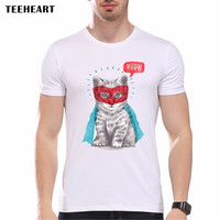 Men Adult Funny Cool Cat T Shirts Male Tee Shirt Casual Robin Hood Printed T-shirt