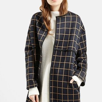 Women's Topshop Check Topper ,