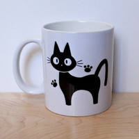 Jiji The Cat 11 oz Ceramic Mug