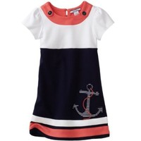 Hartstrings Little Girls' Toddler Short Sleeve Anchor Dress