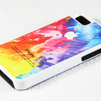 Abstract Watercolor Painting iPhone 5S + 5C + 5 + 4S + 4 Tough Rubber and Soft Case, iPod 5 + 4 Case