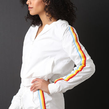 Rainbow Striped Windbreaker Set | UrbanOG