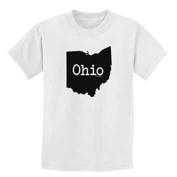 Ohio - United States Shape Childrens T-Shirt by TooLoud