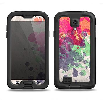 The Vintage WaterColor Droplets Samsung Galaxy S4 LifeProof Fre Case Skin Set