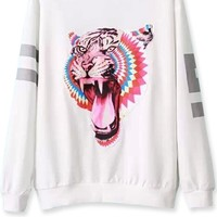 Fierce Tiger Print Sweatshirt - OASAP.com
