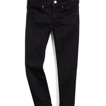 Skinny Five-Pocket Denim Jeans, Black, Size 4Y-14Y,