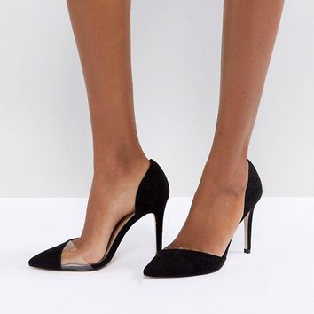 Miss KG Two Part Perspex Detail Point High Heels at asos.com